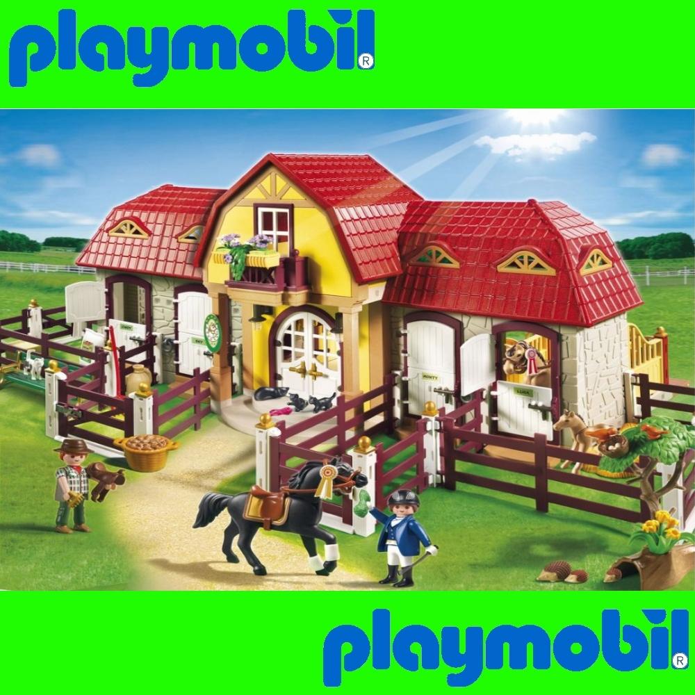 Playmobil 5221 haras avec chevaux et enclos neuf ebay - Playmobil haras ...