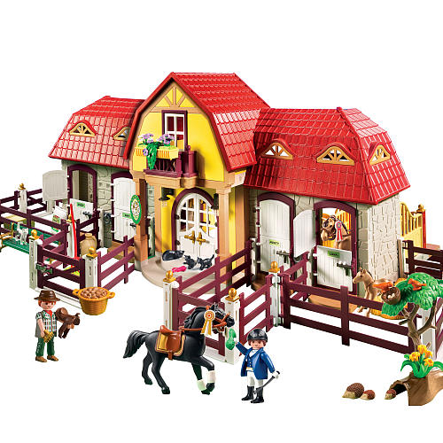 new playmobil 5221 large horse farm with riding paddocks. Black Bedroom Furniture Sets. Home Design Ideas