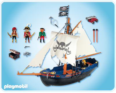 nouveau playmobil playmobil 5810 bateau pirate corsaire. Black Bedroom Furniture Sets. Home Design Ideas