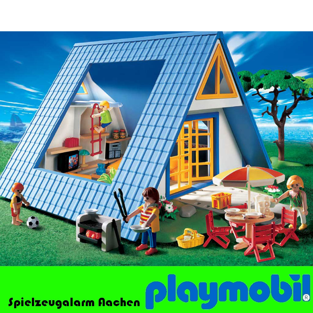 Playmobil 3230 vacation cottage holiday chalet maison de for Playmobil haus schlafzimmer