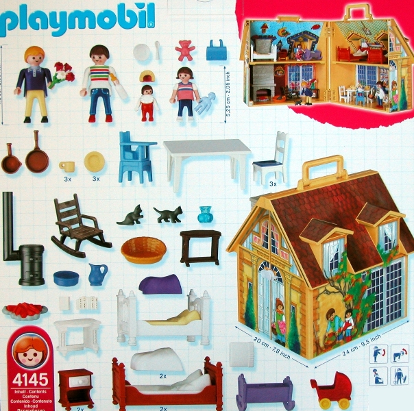 playmobil 4145 doll house to go take along. Black Bedroom Furniture Sets. Home Design Ideas