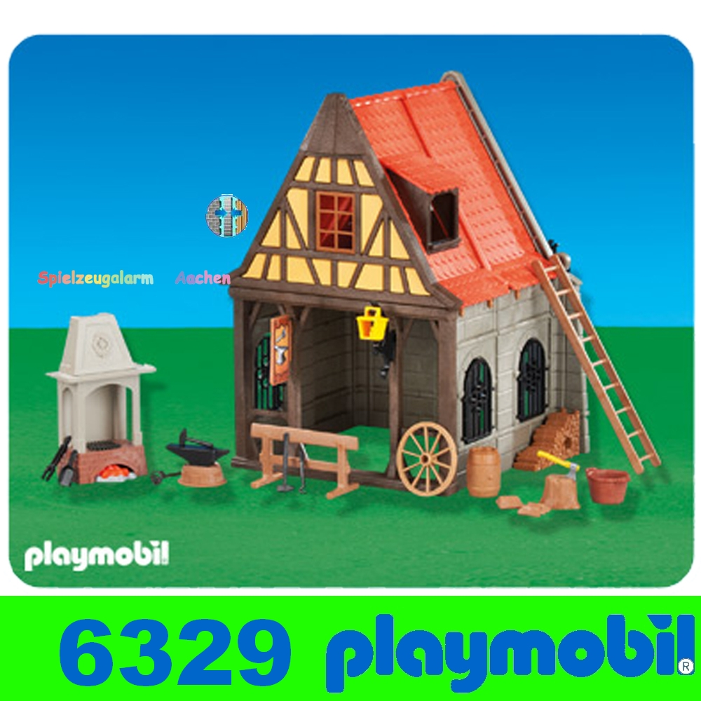 Playmobil 6329 maison avec forge moyen ge medival for Fachwerkhaus definition