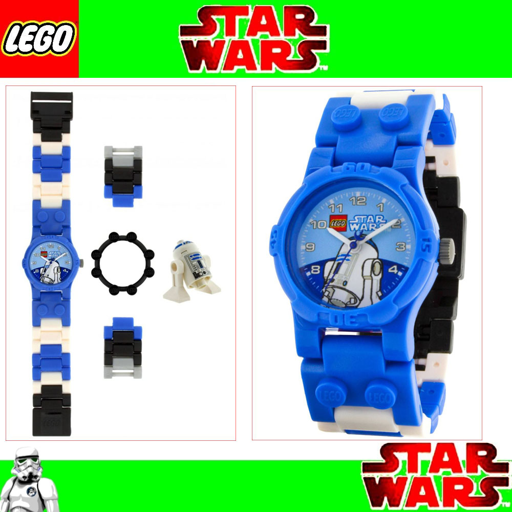 nuevo lego star wars reloj de pulsera con figura r2 d2. Black Bedroom Furniture Sets. Home Design Ideas