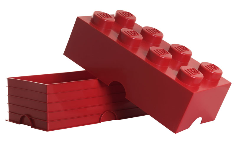 lego storage brick 8 red rot stein 2x4 aufbewahrung dose xxl box kiste dose ebay. Black Bedroom Furniture Sets. Home Design Ideas