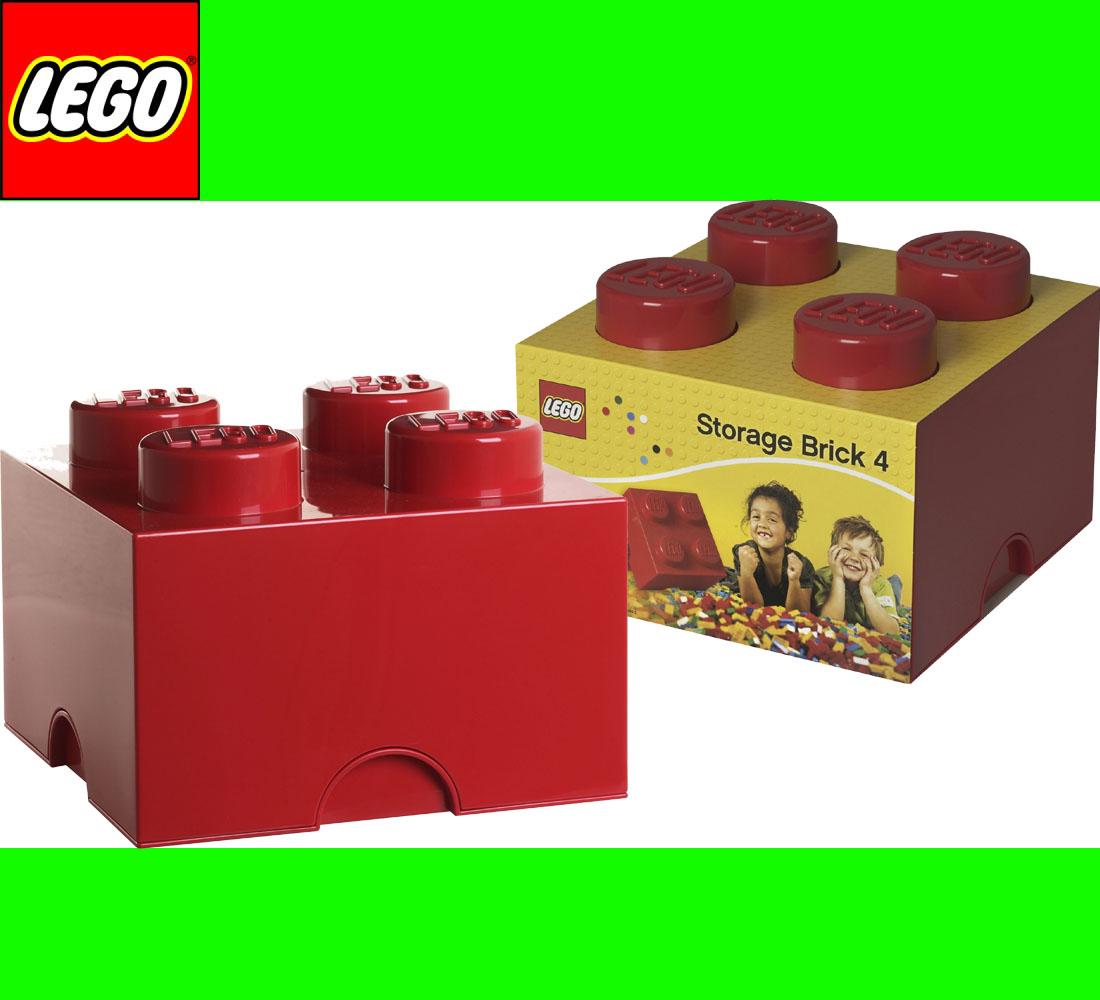 neu lego storage brick 4 rot stein 2x2 aufbewahrung dose xl box kiste ebay. Black Bedroom Furniture Sets. Home Design Ideas