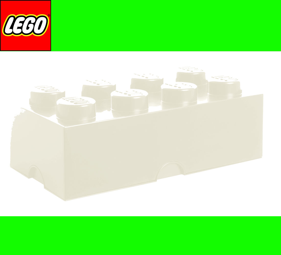 neu lego storage brick 8 white weiss stein 2x4 aufbewahrung dose xxl box kiste. Black Bedroom Furniture Sets. Home Design Ideas