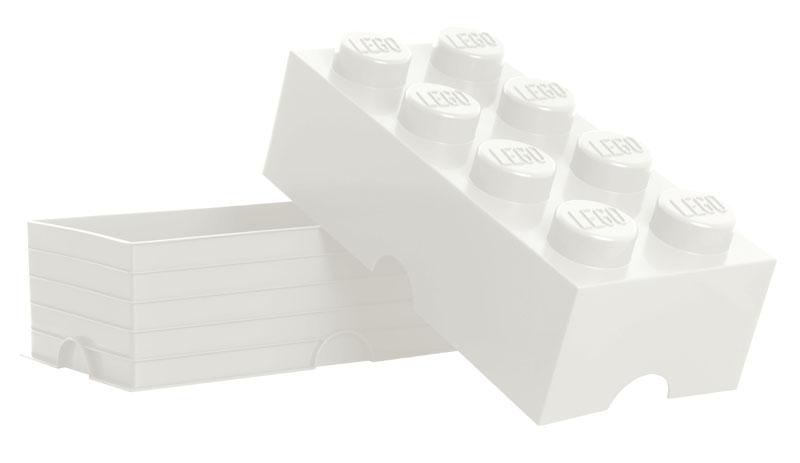 neu lego storage brick 8 white weiss stein 2x4 aufbewahrung dose xxl box kiste ebay. Black Bedroom Furniture Sets. Home Design Ideas