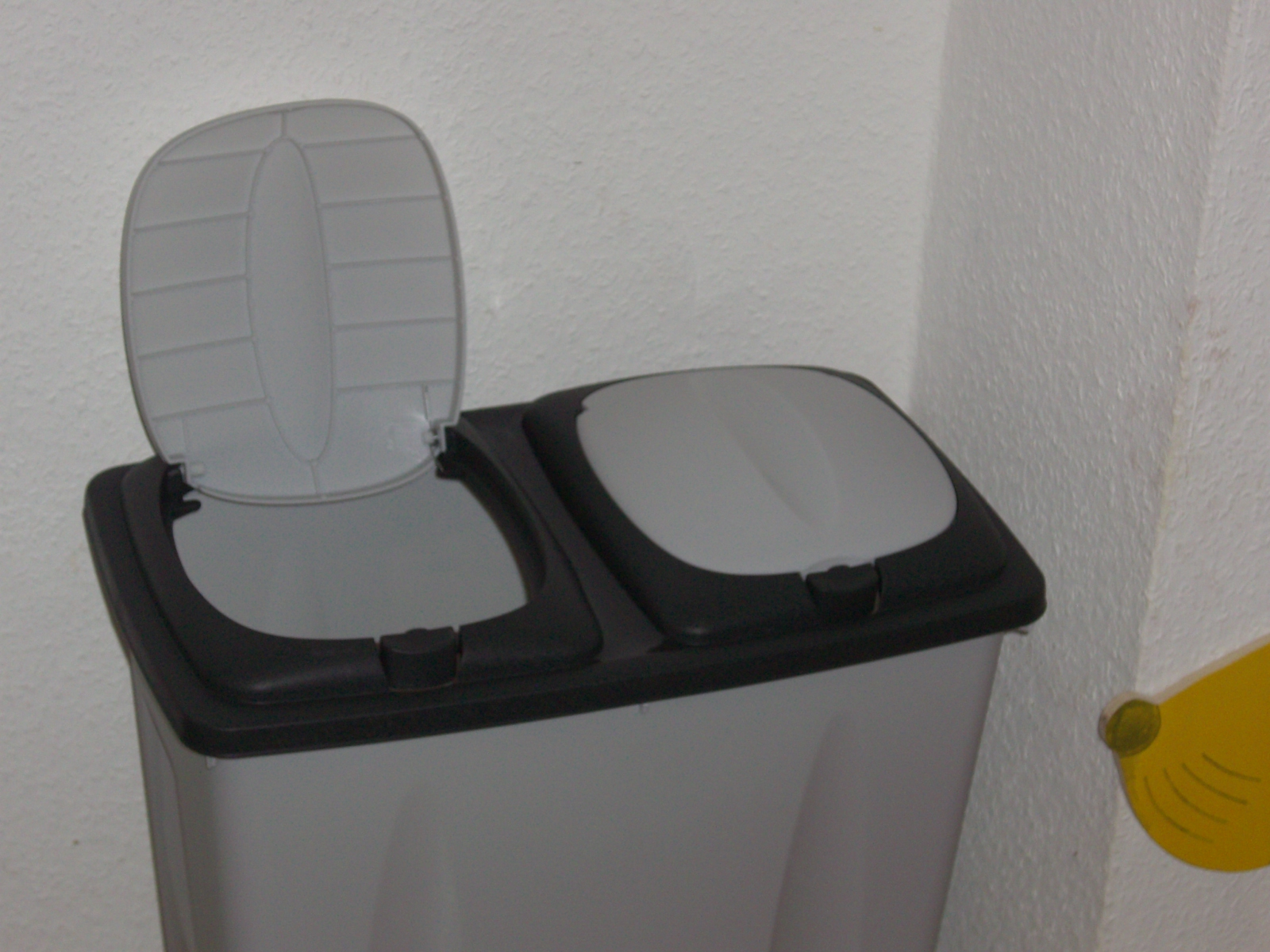 duobin 2x25 liter abfalleimer m lleimer abfallsammler push trash eimer duo bin ebay. Black Bedroom Furniture Sets. Home Design Ideas